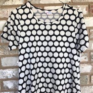 Black and white polka dot Jessie dress, XS